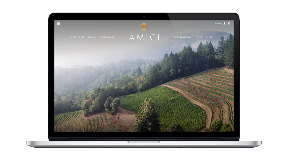 Website for Amici Cellars